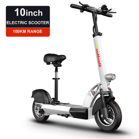 10inch electric scooter 48V lithium battery electric bicycle 500w high speed 100km range sctooer  max speed 25-40km/h