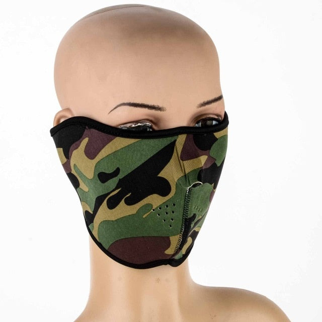 Motorcycle Half Face Mask