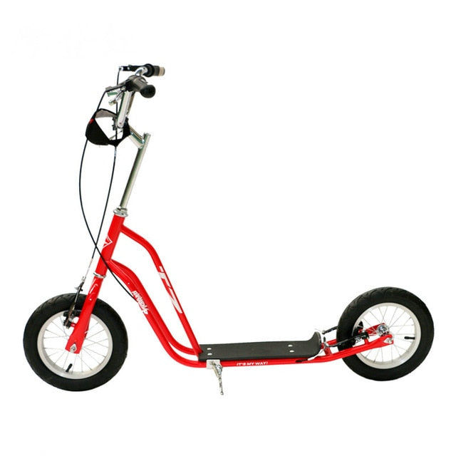 Factory outlet kid scooter, 12inch big wheel adult scooter, height adjust kid scooter with rubber wheel, handbrake adult scooter
