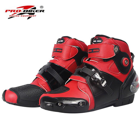 Motorcycle Boots Shoes Short Motocross Botas Moto Motoqueiro Motocicleta A90031 Botte Botas Para Moto Men Shoes White Black Red
