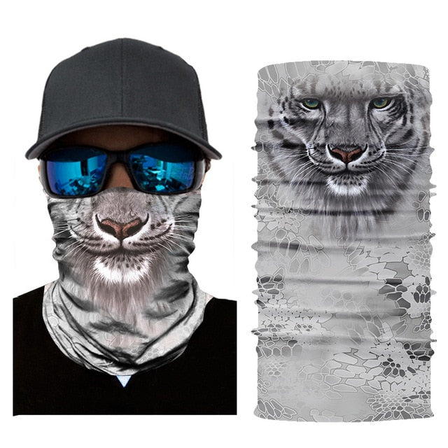 Motorcycle Face Mask With Animal Prints