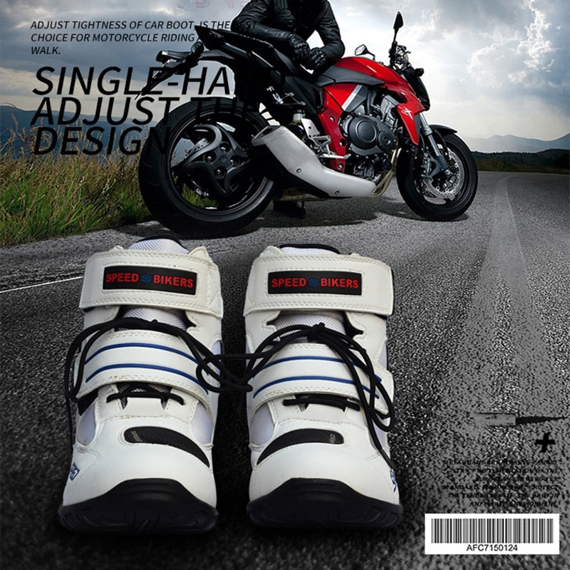 Riding Tribe Waterproof Motorcycle Boots Biker Non-slip Moto Racing Motocross Leather Shoes Offroad Riding Dirt Bike Botas Men
