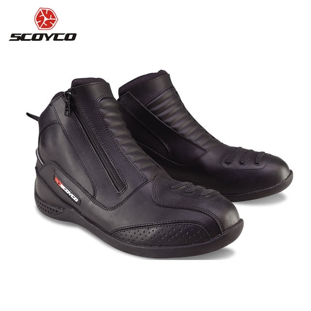 SCOYCO Motorcycle Boots Men's Moto High Ankle Boots Bota Motociclista Moto Shoes Motocross Motorbike Riding boots Shoes MBT002