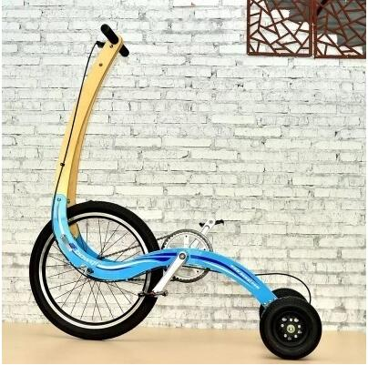 Fold 20 Inch Exercise Bike Stand Riding Fitness Tricycle Scooter