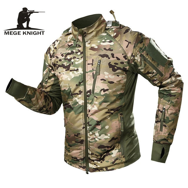 MEGE Men's Waterproof Military Tactical Jacket Men Warm Windbreaker Bomber Jacket Camouflage Hooded Coat US Army chaqueta hombre