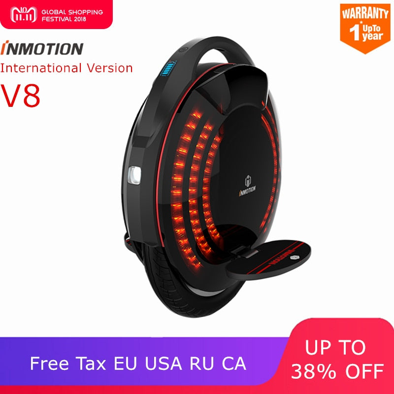 Inmotion SCV V8 one wheel self balancing scooter smart electric build-in handle adjustable EUC hoverboard skateboard unicycle