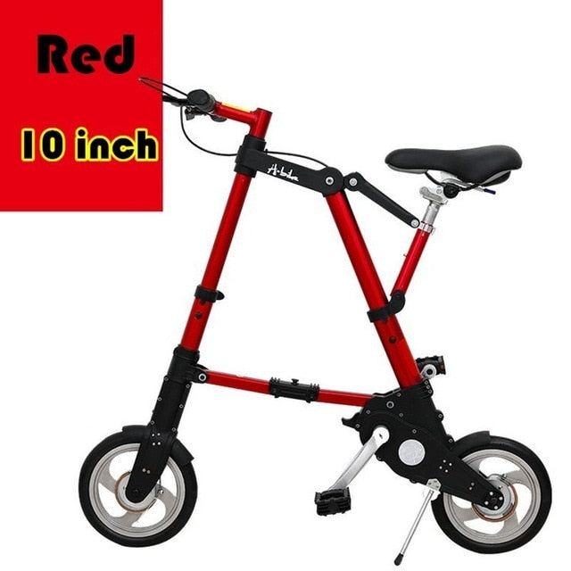 City Elf Bike 8 / 10 Inch Aluminum Alloy Ultra Light Mini Folding Bicycle Shopping Subway Travel Portable Pocket Unisex Cyclling