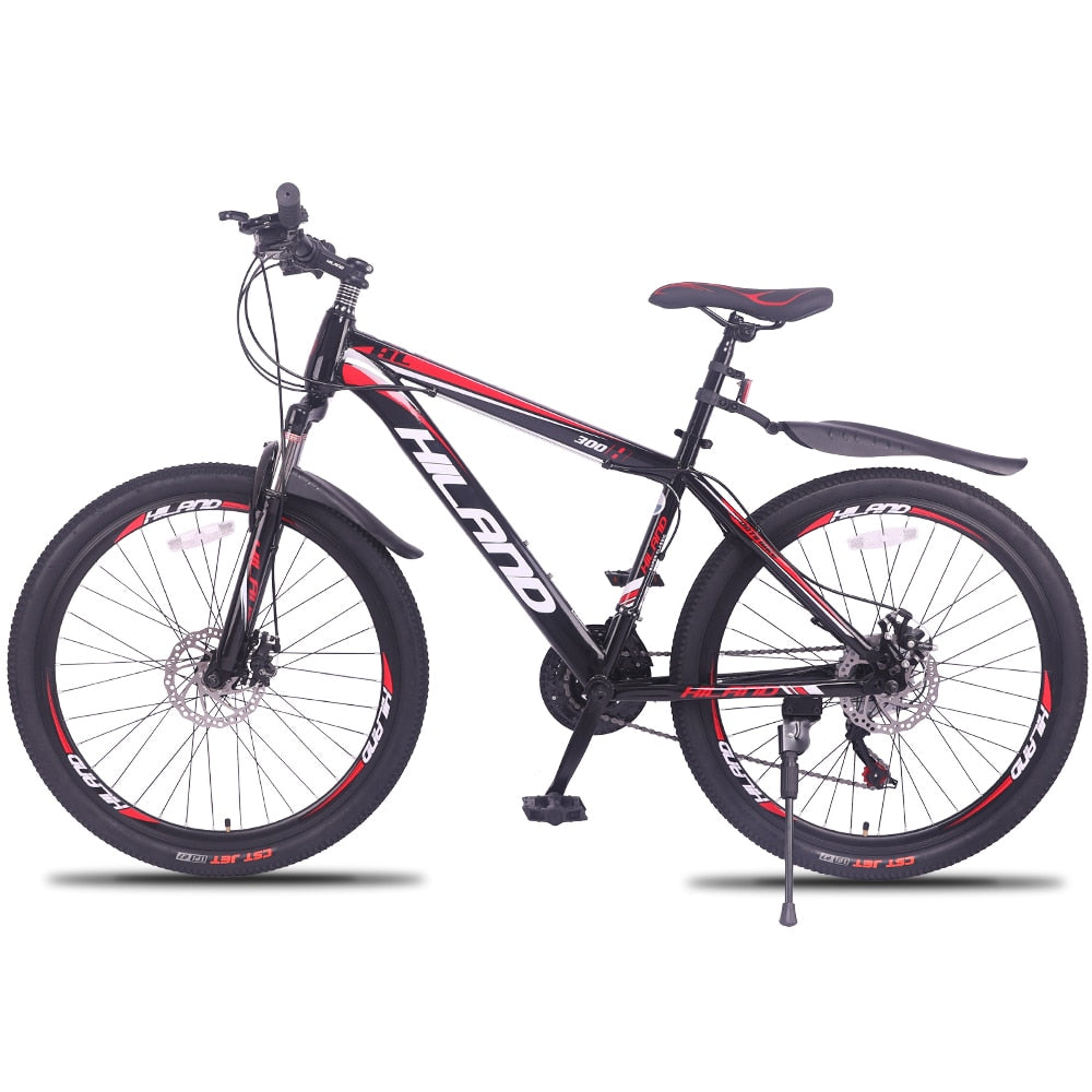 21 / 27 Speed Mountain Bike Bicycle 26 / 27.5 inch steel or aluminum frame red and black aviliable MTB free shipping
