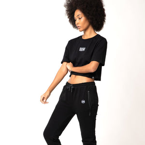 LOGO CROP TOP / BLACK