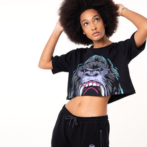 GORILLA CROP TOP / BLACK