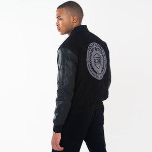 HAZARD BOMBER JACKET / BLACK