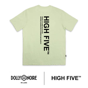 DLYNR × HIGH FIVE / LOGO LABEL T-SHIRT / GREEN