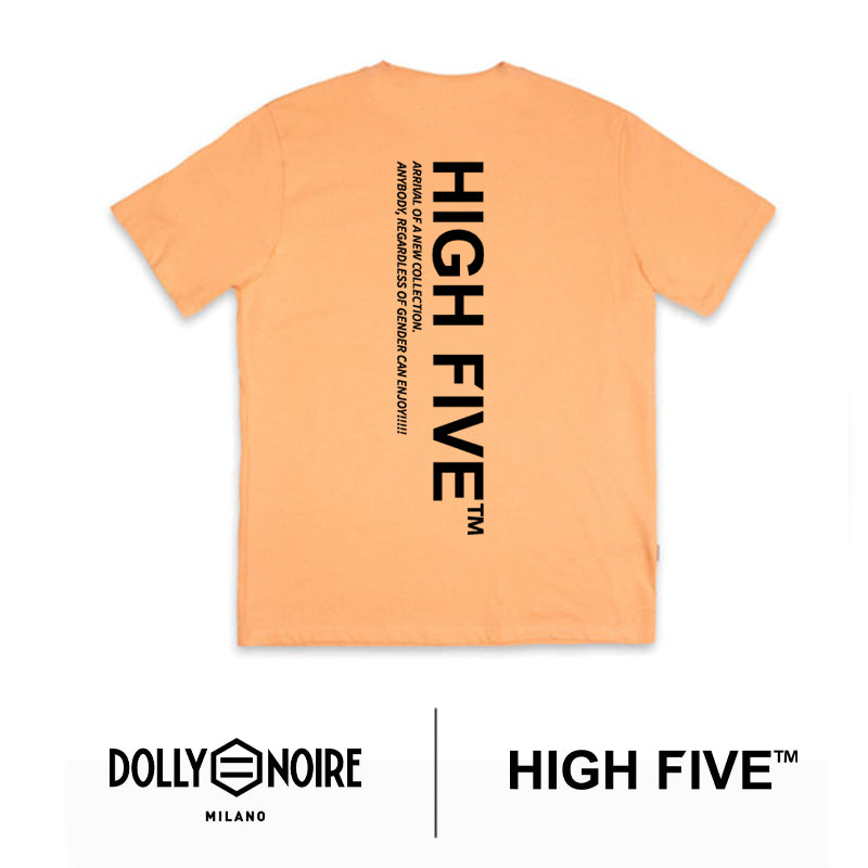 DLYNR × HIGH FIVE / LOGO LABEL T-SHIRT / ORANGE