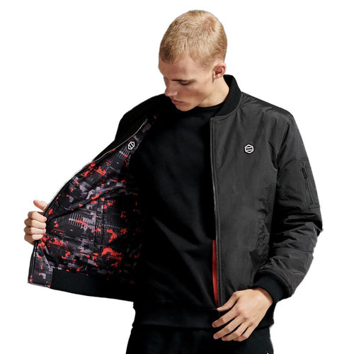 REVERSIBLE GLITCH CAMO BOMBER JACKET / MULTI