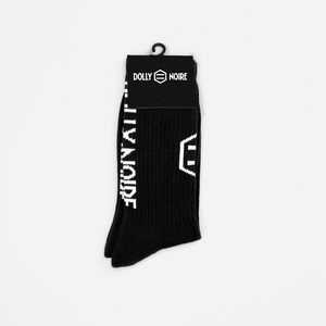 VERTICAL LOGO SOCKS / BLACK