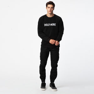 LOGO CAPITAL CREWNECK / BLACK