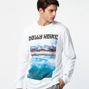 SIBERIAN LAKE LONGSLEEVES T-SHIRT / WHITE