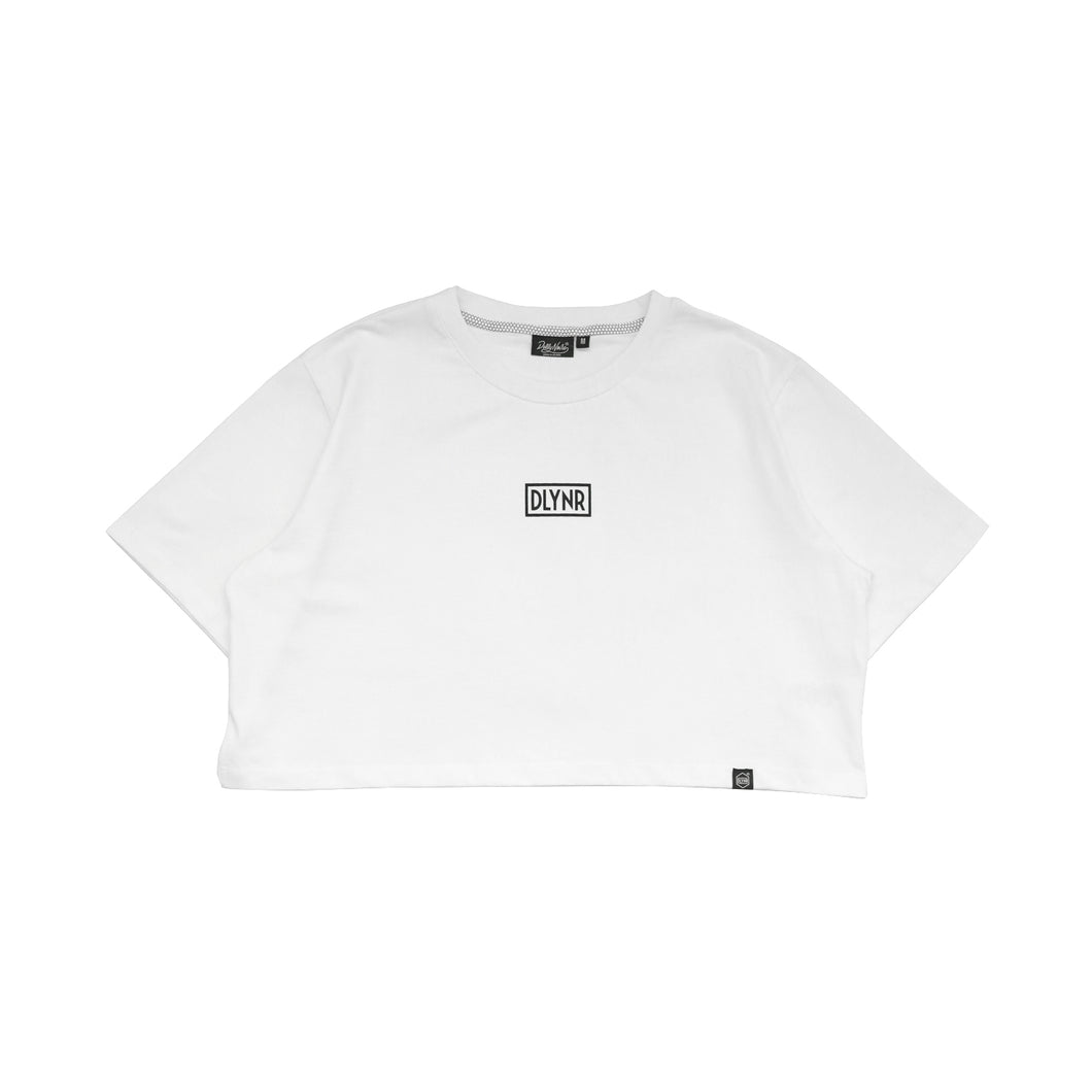LOGO CROP TOP / WHITE