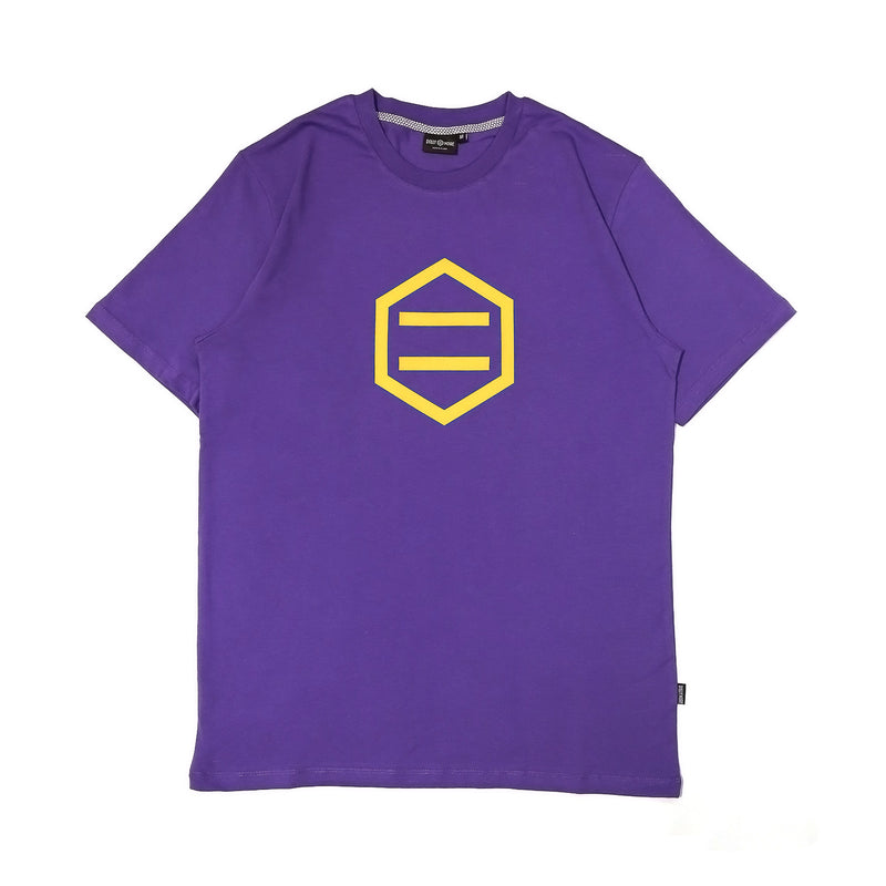 LOGO T-SHIRT / PURPLE YELLOW
