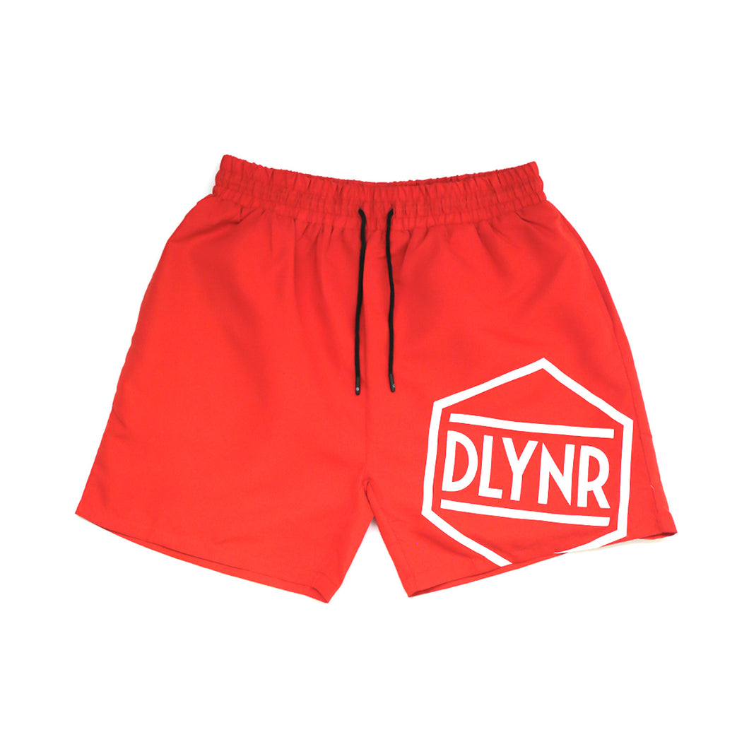 LOGO SWIMSHORTS / RED