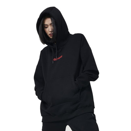 CAPITAL GLITCH OVER HOODIE / BLACK