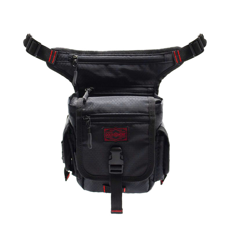 LEG BAG / BLACK RED