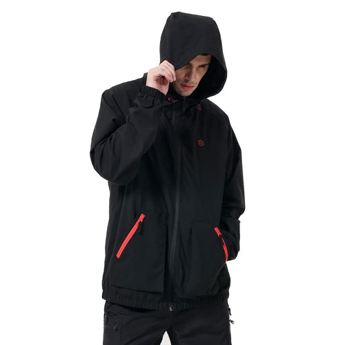 FULL ZIP LOGO JACKET / BLACK RED