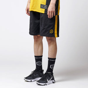 DUSK ACTIVE SHORTPANTS / BLACK YELLOW