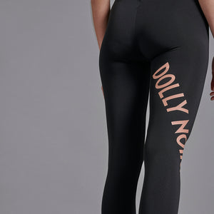 NEW LOGO LEGGINGS / BLACK ORANGE