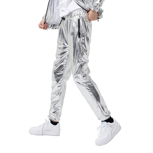 CHROME PANTS WOMAN / SILVER