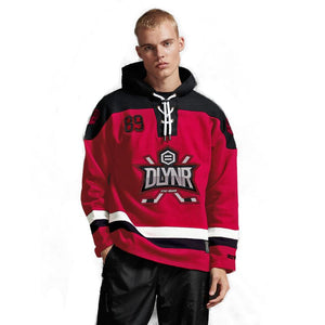 NEW HOCKEY HOODIE / BLACK RED