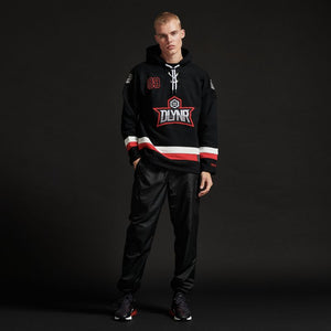 HOCKEY HOODIE / BLACK RED