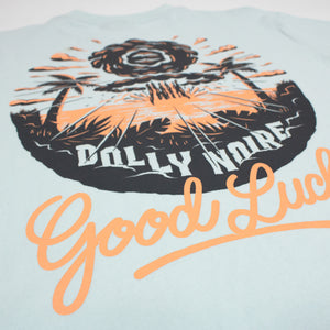 GOOD LUCK T SHIRT / BLUE
