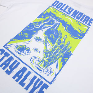 STAY ALIVE T SHIRT・WHITE