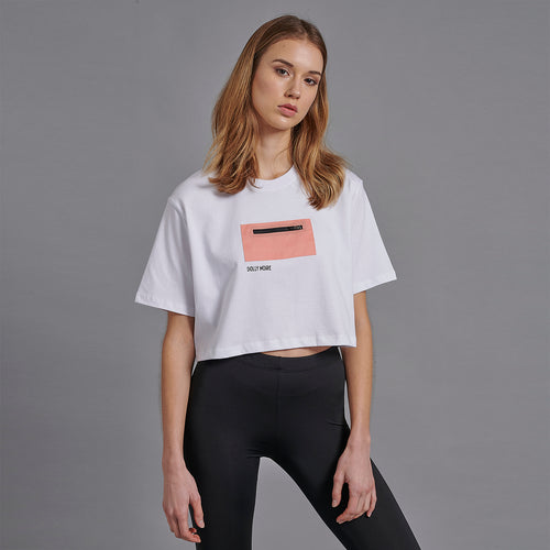 POCKET CROP TOP / WHITE