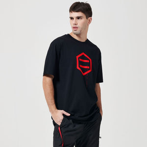 LOGO T-SHIRT / BLACK RED