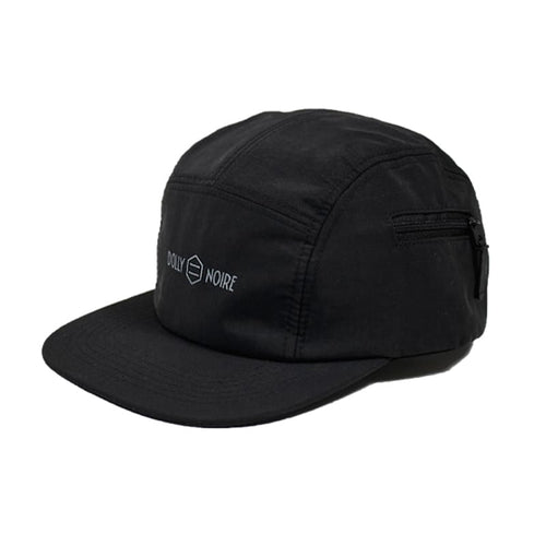 TASLON POCKET 5 PANEL CAP / BLACK