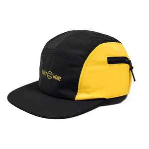 TASLON POCKET 5 PANEL CAP / BLACK YELLOW
