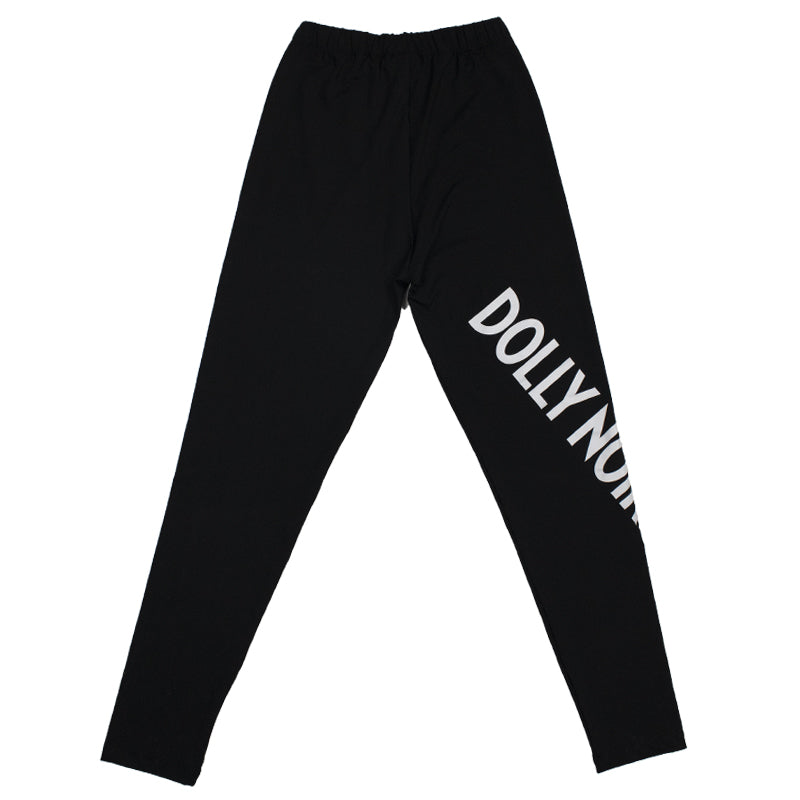 NEW LOGO LEGGINGS / BLACK WHITE