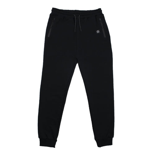 ZIP POCKET LOGO SWEATPANTS / BLACK