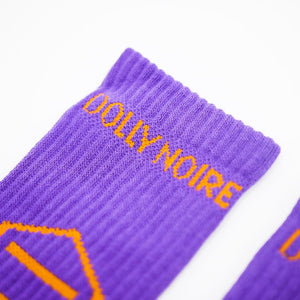 NEW LOGO SOCKS / PURPLE