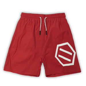 NEW LOGO SWIMSHORTS / RED