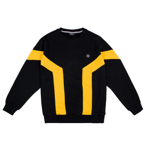 ZINK ASH CREWNECK / BLACK YELLOW