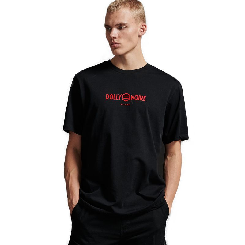 LOGO CAPITAL T-SHIRT / BLACK RED