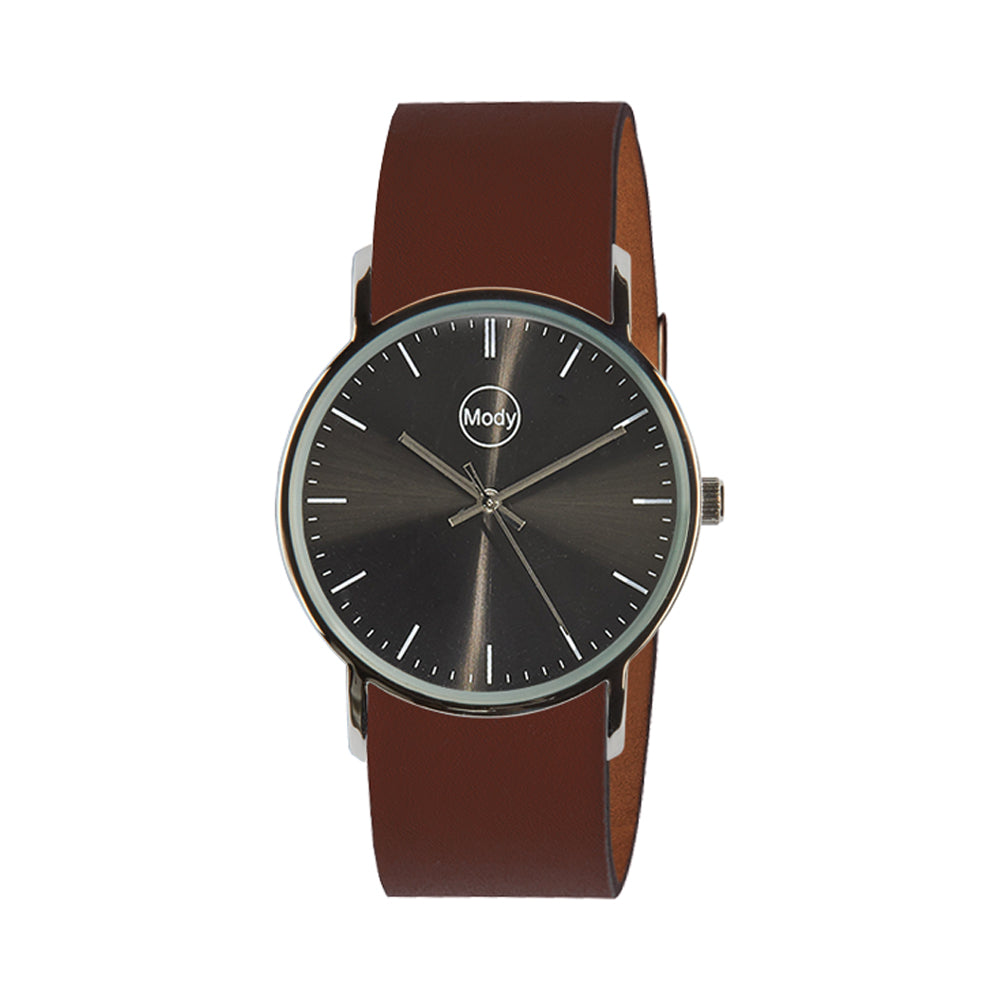 Mody Shinyblack-Brown Damenuhr Herrenuhr
