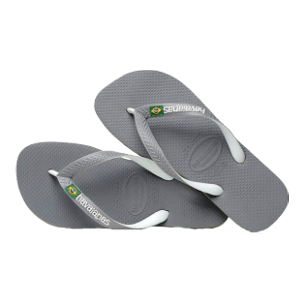 HAVAIANAS - TONG - BRASIL MIX - STEEL GREY/WHITE