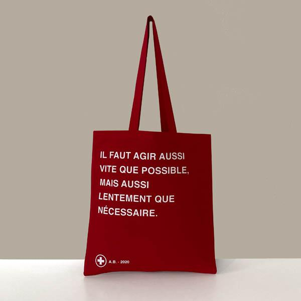ALAIN'S BAG - PACK TOTE BAG 3 COULEURS - SÉRIGRAPHIE - 100% COTON