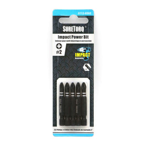 "Impact Power Bits 2"" Card 5pcs"