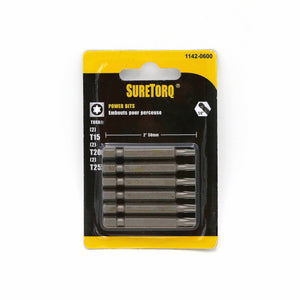 "Assorted TORX® Power Bits 2"" Card"
