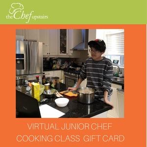 Virtual Junior Chef Cooking Class Gift Card